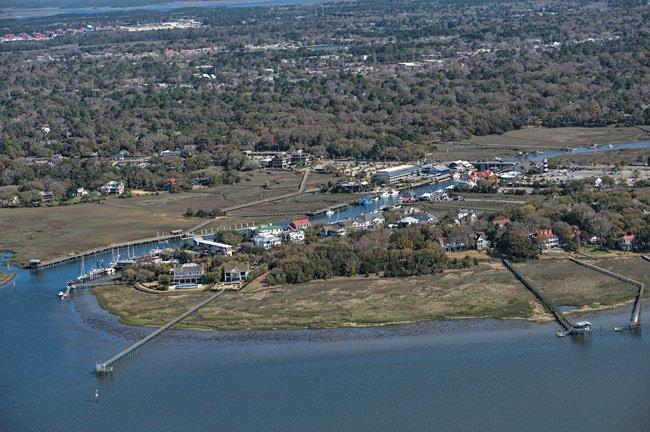 Shem Creek Mt. Pleasant Aerial