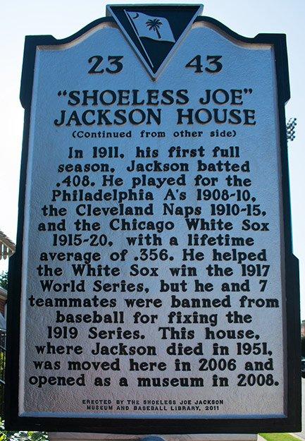 Shoeless Joe Jackson Sign
