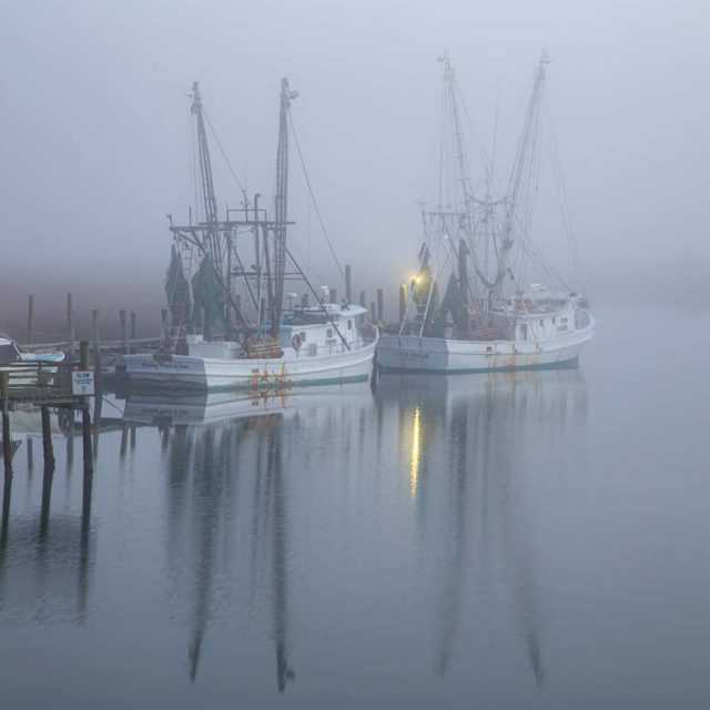 Shrimp Trawlers at Crosby's near Folly Beach