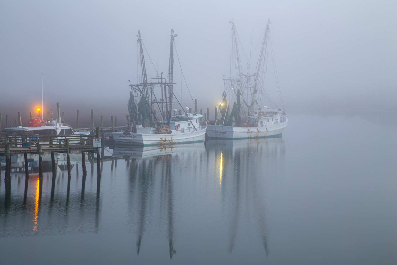 Shrimp Trawlers at Crosby's near Folly Beach