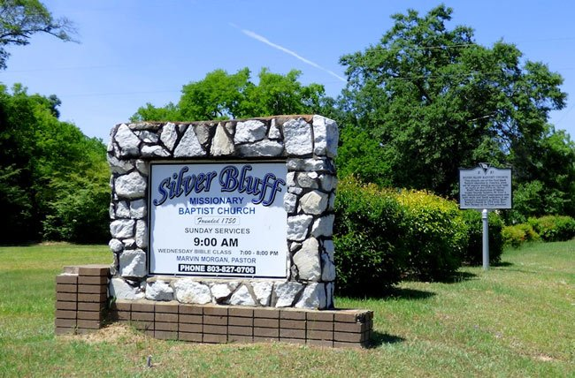Silver Bluff Baptist Sign