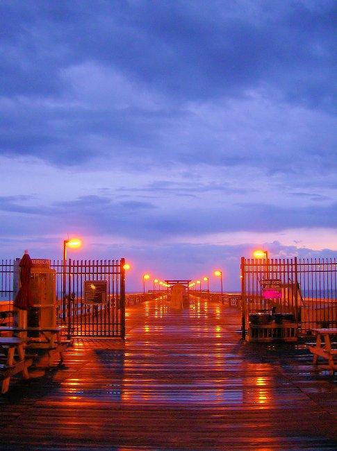 Springmaid Pier in Myrtle Beach After a Rain