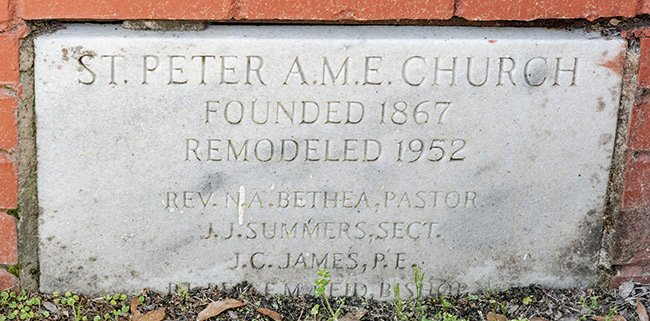 St. Peter's AME Cornerstone