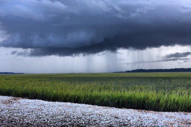Storm on Bull Island