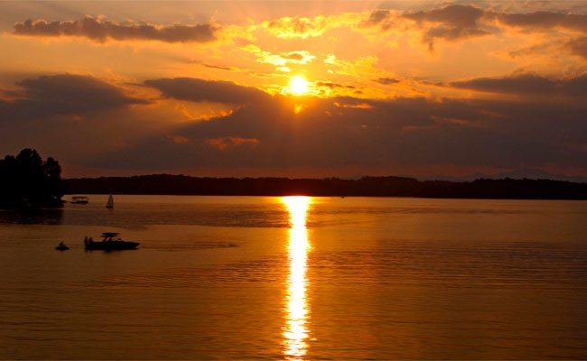 Sunset over Lake Keowee