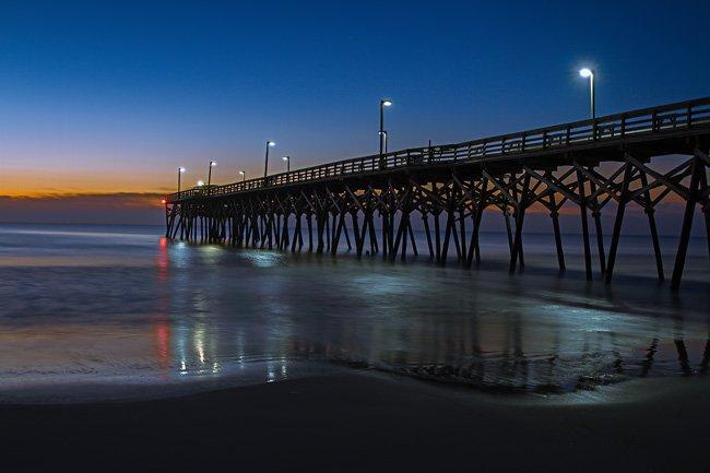Surfside Pier at Night