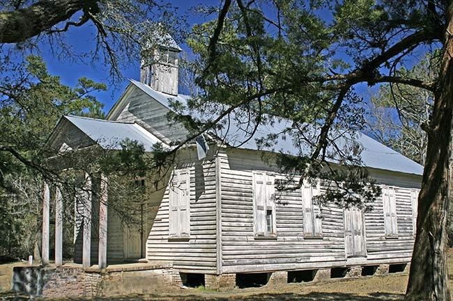 Taveau Church, Side Elevation
