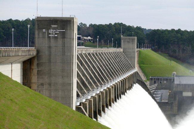 Thurmond Dam Water Release
