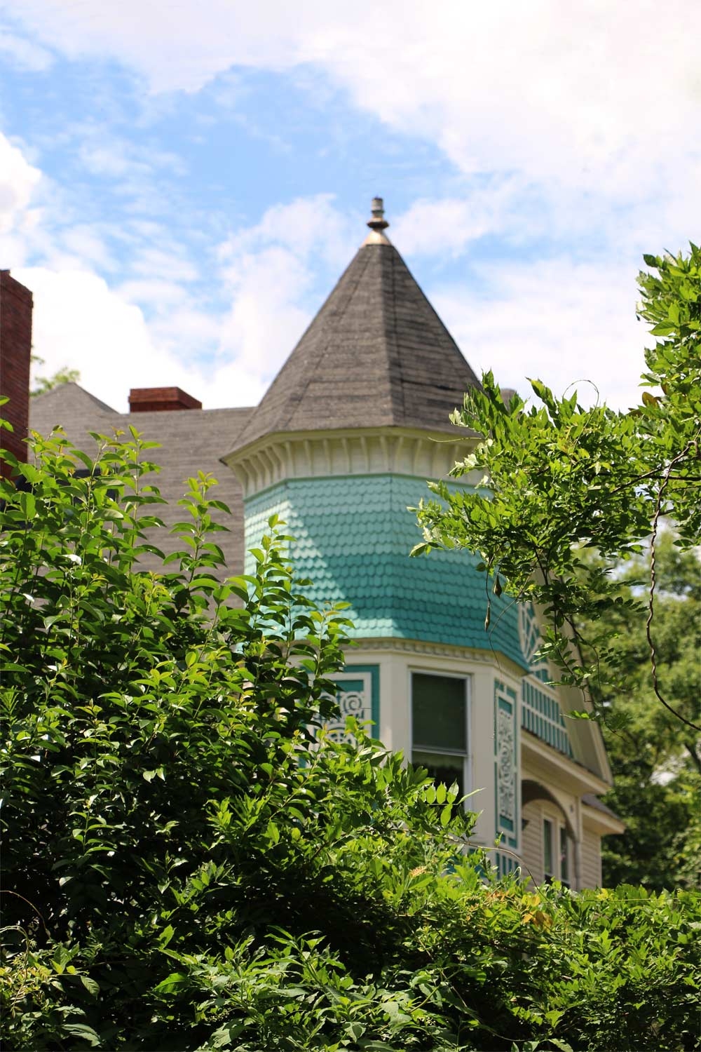 Turret on Brock Brown Hall