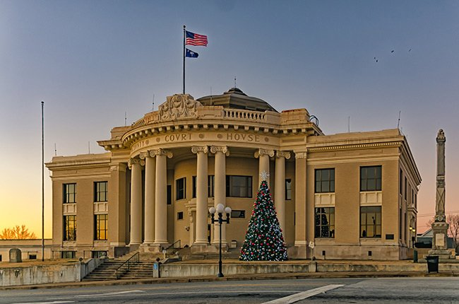 Union County Courthouse at Christmas