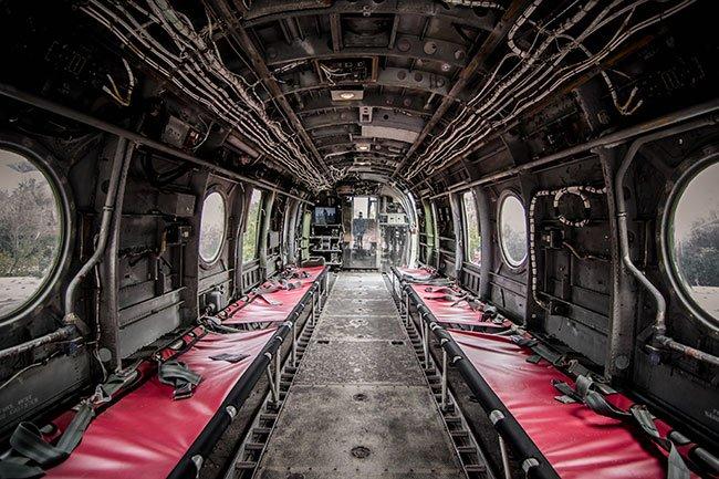 USS Yorktown Interior Plane