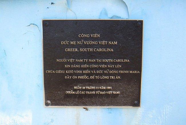 Vietnam Park Plaque Vietnamese
