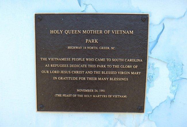 Vietnam Park Plaque