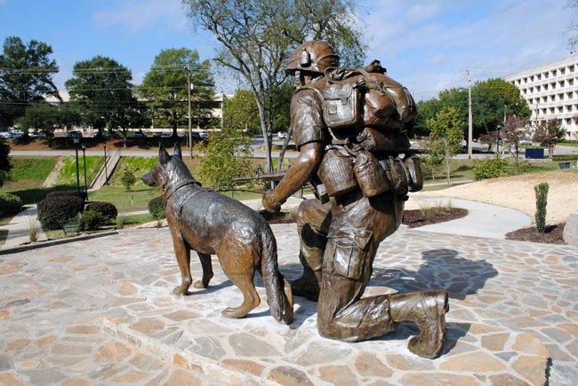 War Dogs Memorial Rear