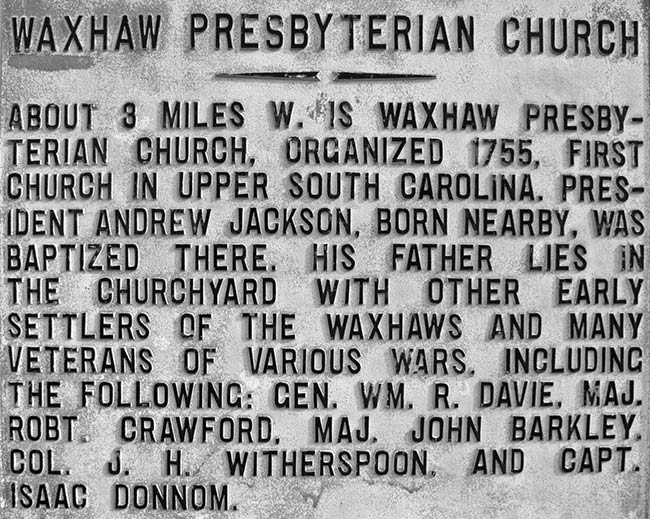 Waxhaws Historical Marker