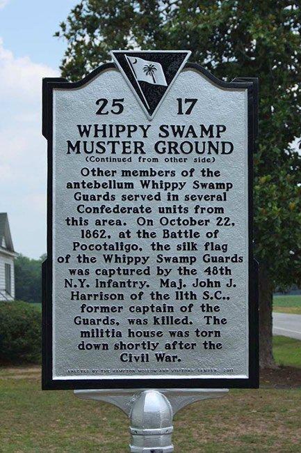 Whippy Swamp Historical Marker