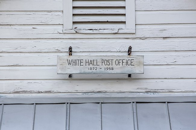 White Hall Post Office Sign