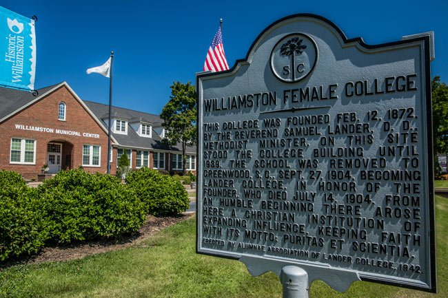 Williamston Female College Marker
