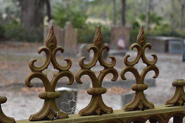 Zion Cemetery Gate Detail