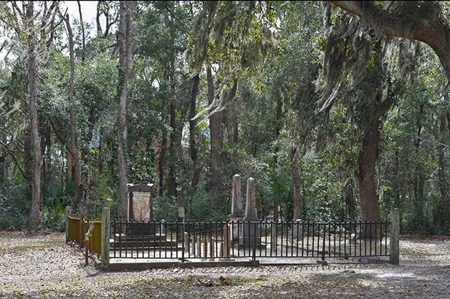 Zion Cemetery Grounds with Iron Gate