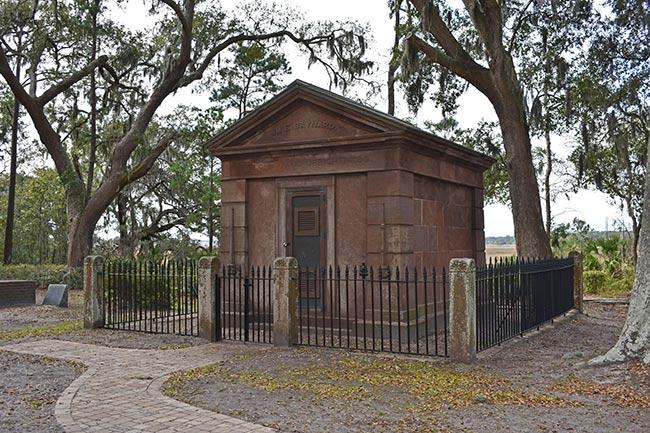 Zion Cemetery Mausoleum Rear